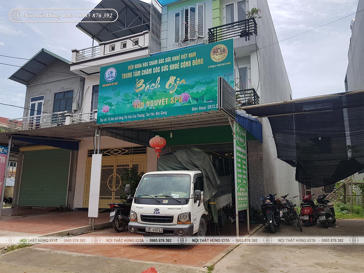 Vận chuyển lắp đặt nội thất Tân Nguyệt Spa ở Bắc Giang