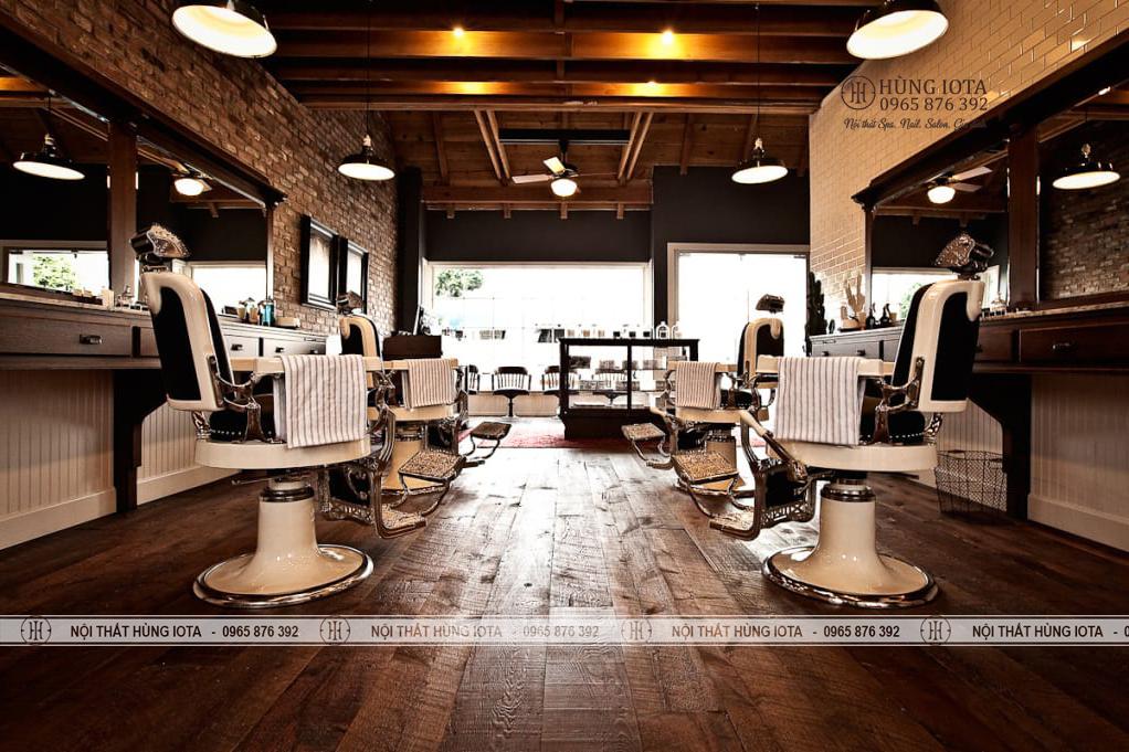Xưởng sản xuất gương barber cho nội thất barber cắt tóc nam đẹp