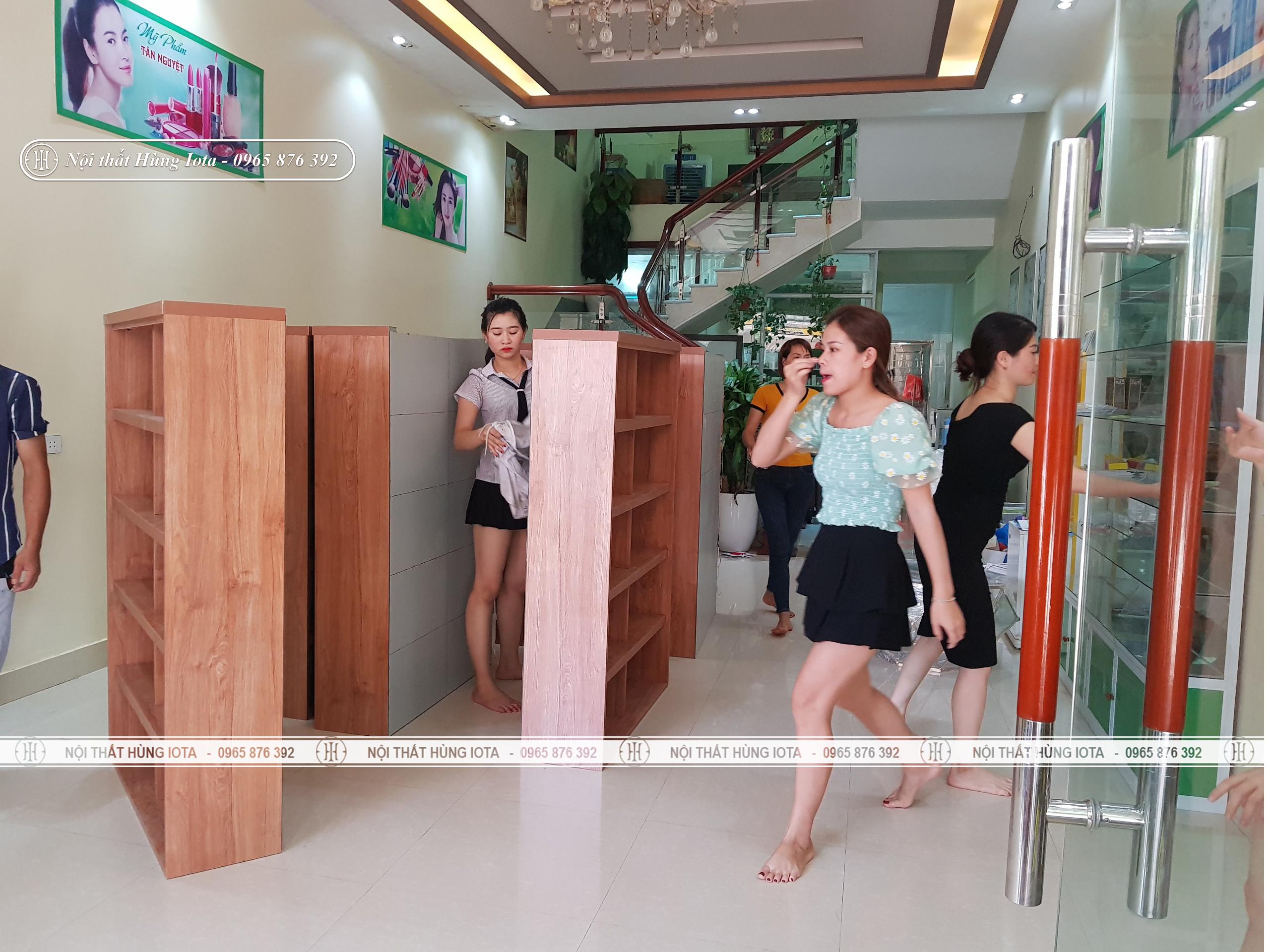 Lắp đặt tủ spa tại Bắc Giang cho Tân Nguyệt Spa