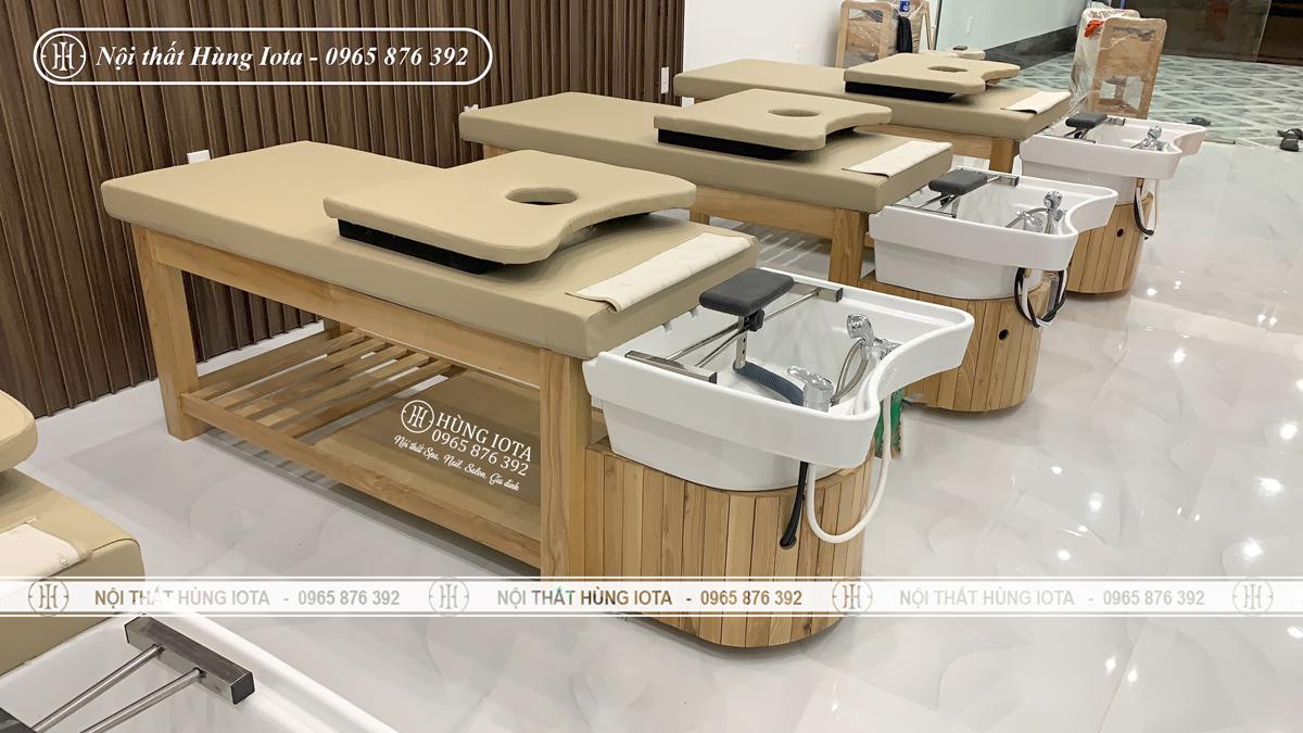 Giường gội dưỡng sinh spa cho thẩm mỹ viện Vân Quê ở Tp Điện Biên