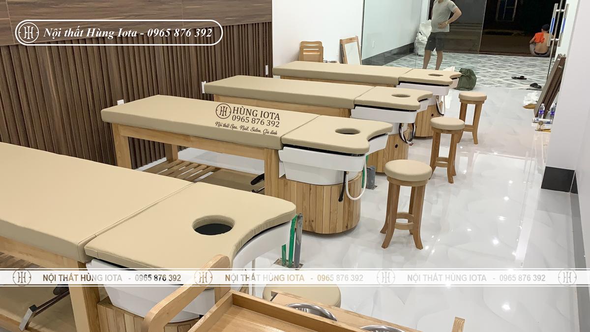 Giường gội massage 2 in 1 bồn sứ đẹp giá rẻ lắp đặt tại Điện Biên