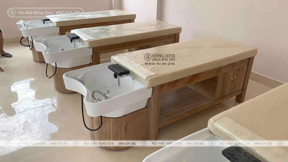 Giường spa 2 in 1 bồn sứ lắp đặt ở Phú Thọ