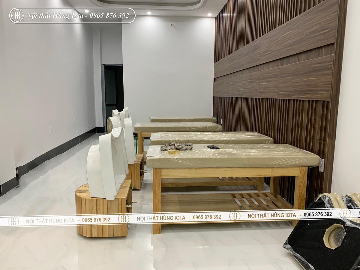 Lắp đặt giường gội spa hay giường gội đầu dưỡng sinh bồn sứ