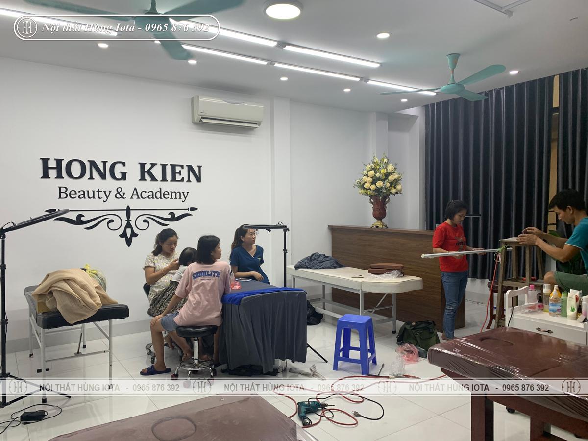 Lắp đặt nội thất massage cho thẩm mỹ viện Hồng Kiên ở Cầu Giấy