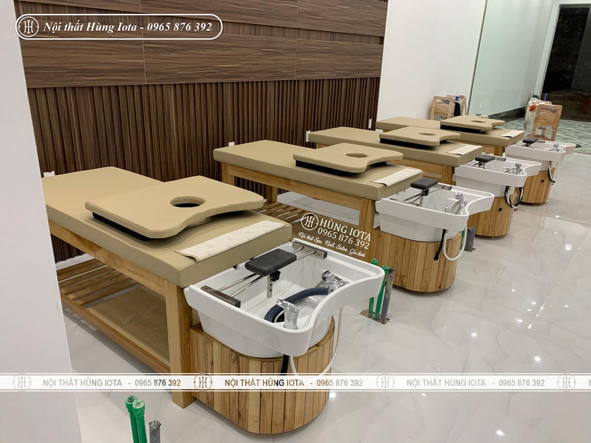 Lắp đặt nội thất phòng dưỡng sinh ở Điện Biên cho Thẩm mỹ viện Vân Quê