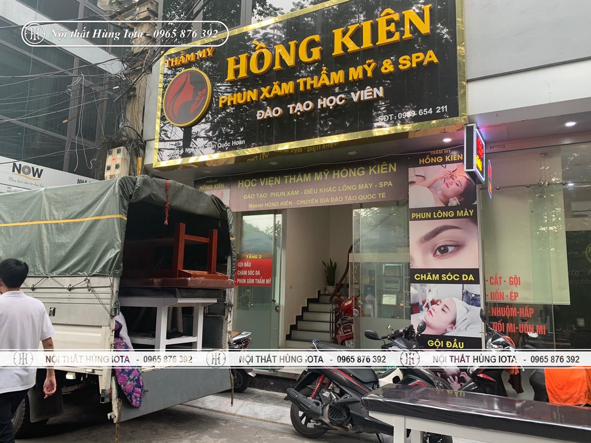Lắp đặt nội thất Thẩm mỹ viện Hồng Kiên ở Cầu Giấy