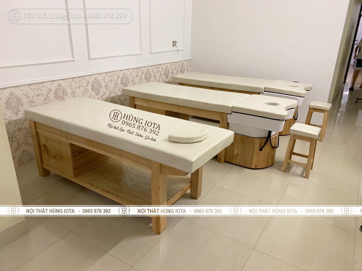 Sản phẩm nội thất spa màu vàng vân gỗ đẹp giá rẻ ở Hải Dương