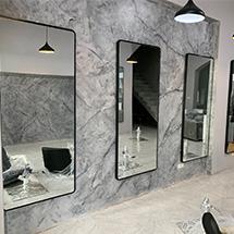 Gương cắt tóc hình chữ nhật khung gỗ đẹp giá rẻ GCT31