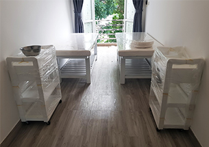 Thumb lắp đặt nội thất spa màu trắng ở Long Biên