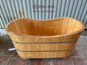 Bồn tắm gỗ dài ngâm thảo dược spa BTG01