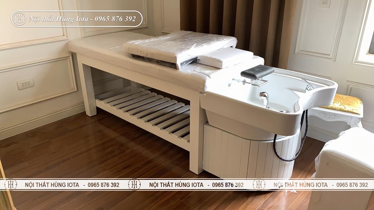 Giường spa 2 in 1 bồn sứ màu trắng đẹp giá rẻ