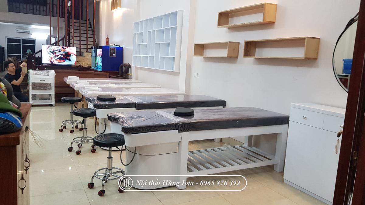 Giường spa 2 in 1 gội massage giá rẻ