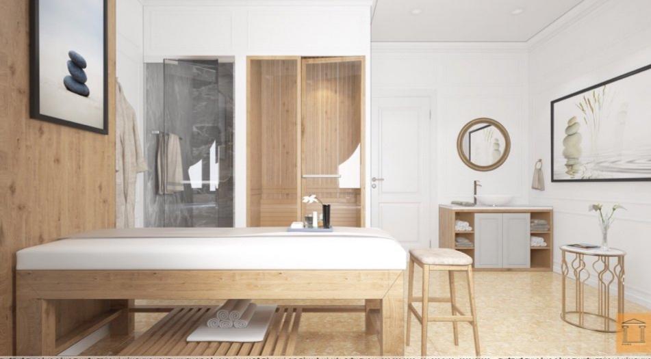 Giường spa đẹp thiết kế theo yêu cầu khách hàng