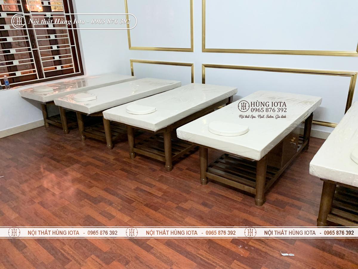 Giường spa màu hạt dẻ đẹp giá rẻ ở Bắc Ninh