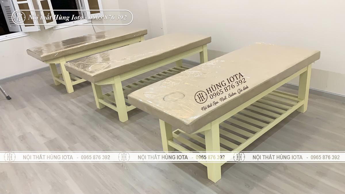 Giường spa màu vàng kem hay giường spa màu be giá rẻ tại xưởng