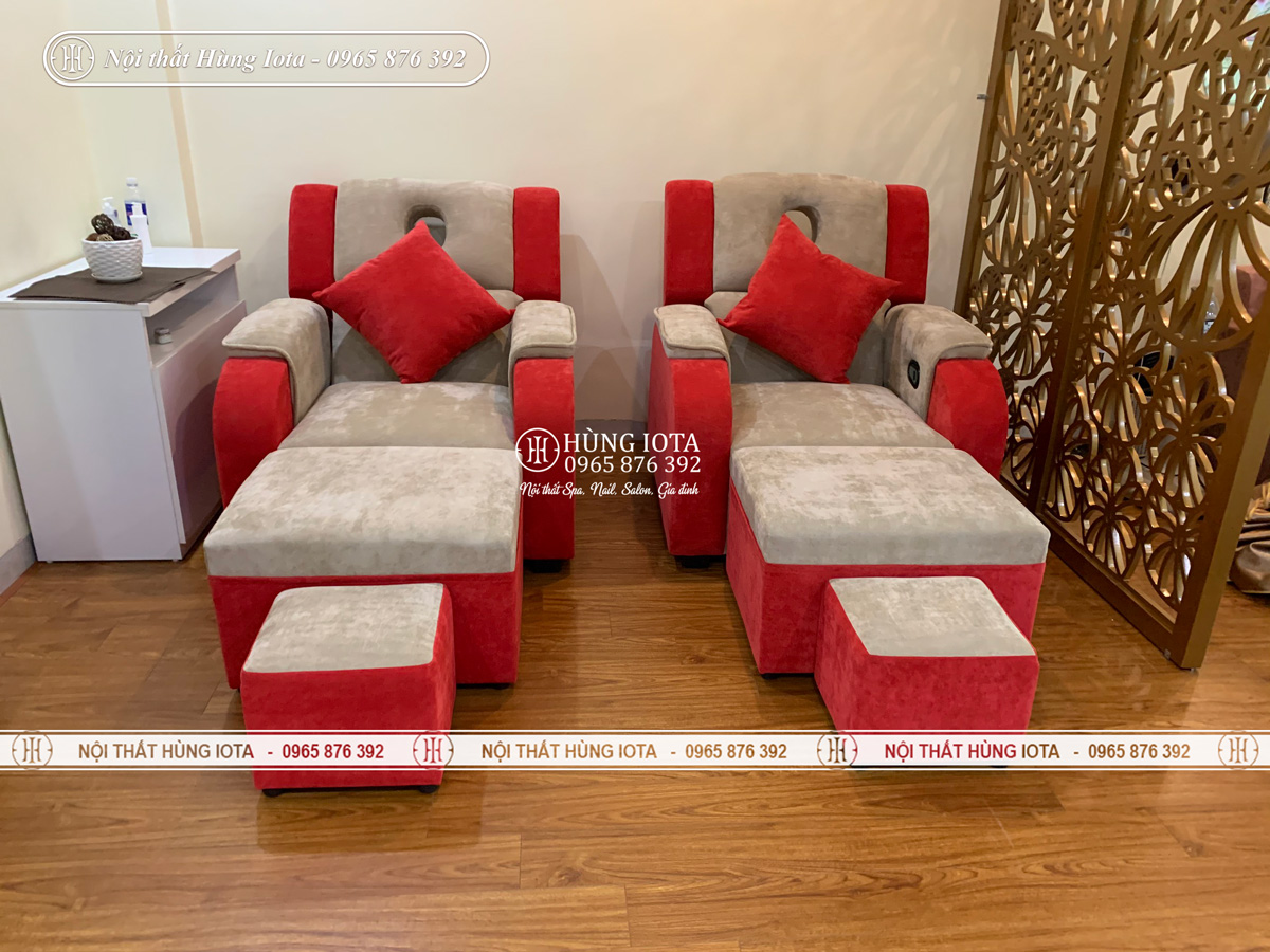 Mẫu ghế foot massage chân bọc nỉ đẹp giá rẻ