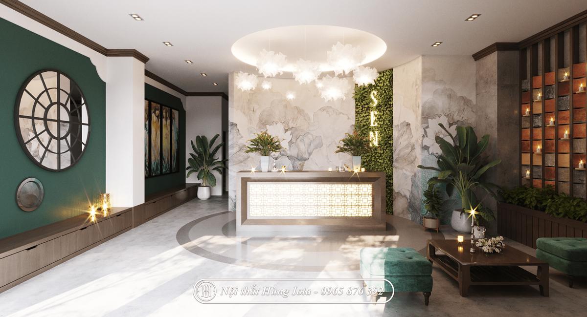 Phòng tiếp khách spa hiện đại tinh tế