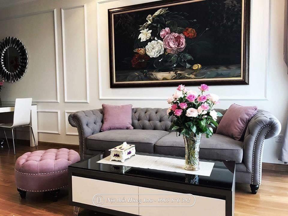 Sofa spa đẹp tân cổ điển sang trọng