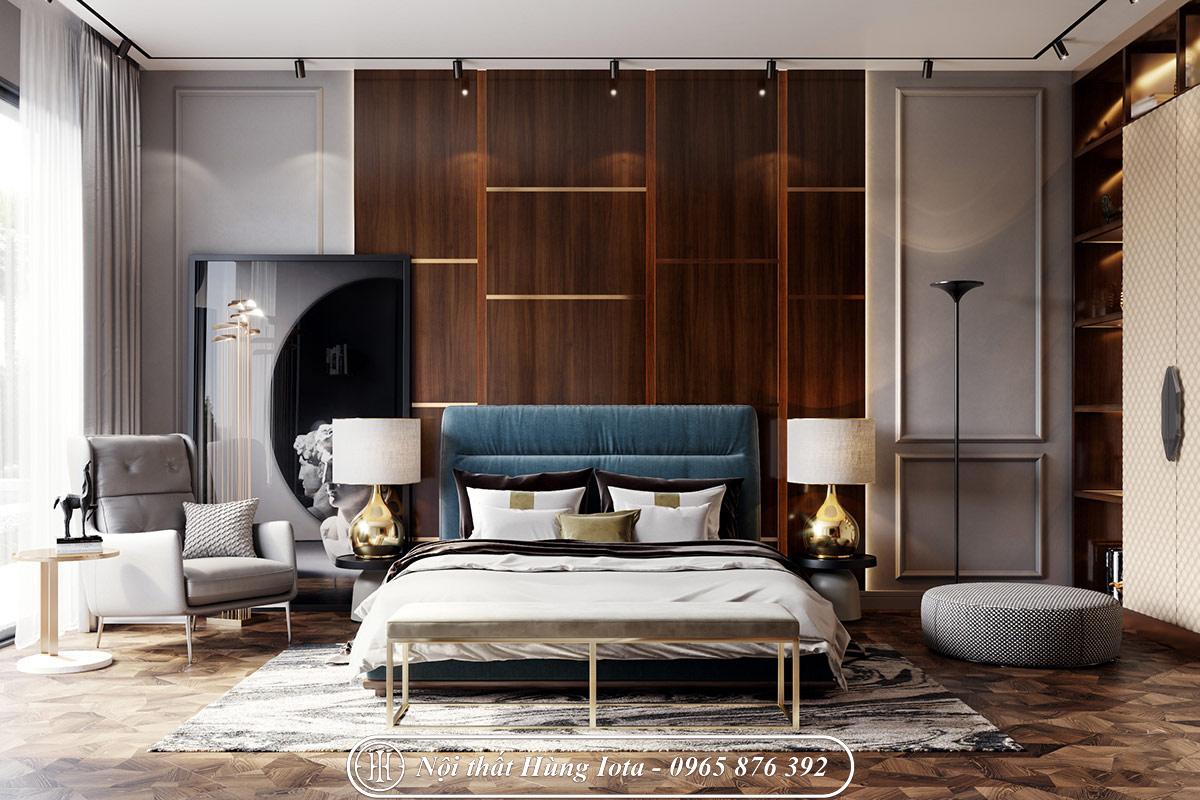 Thiết kế nội thất phòng ngủ cho biệt thự