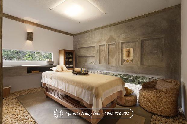 Thiết kế spa đẹp phong cách Châu Âu, màu gỗ tự nhiên