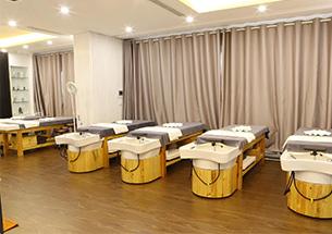 Thumb giường gội spa 2 in 1 màu vàng gỗ