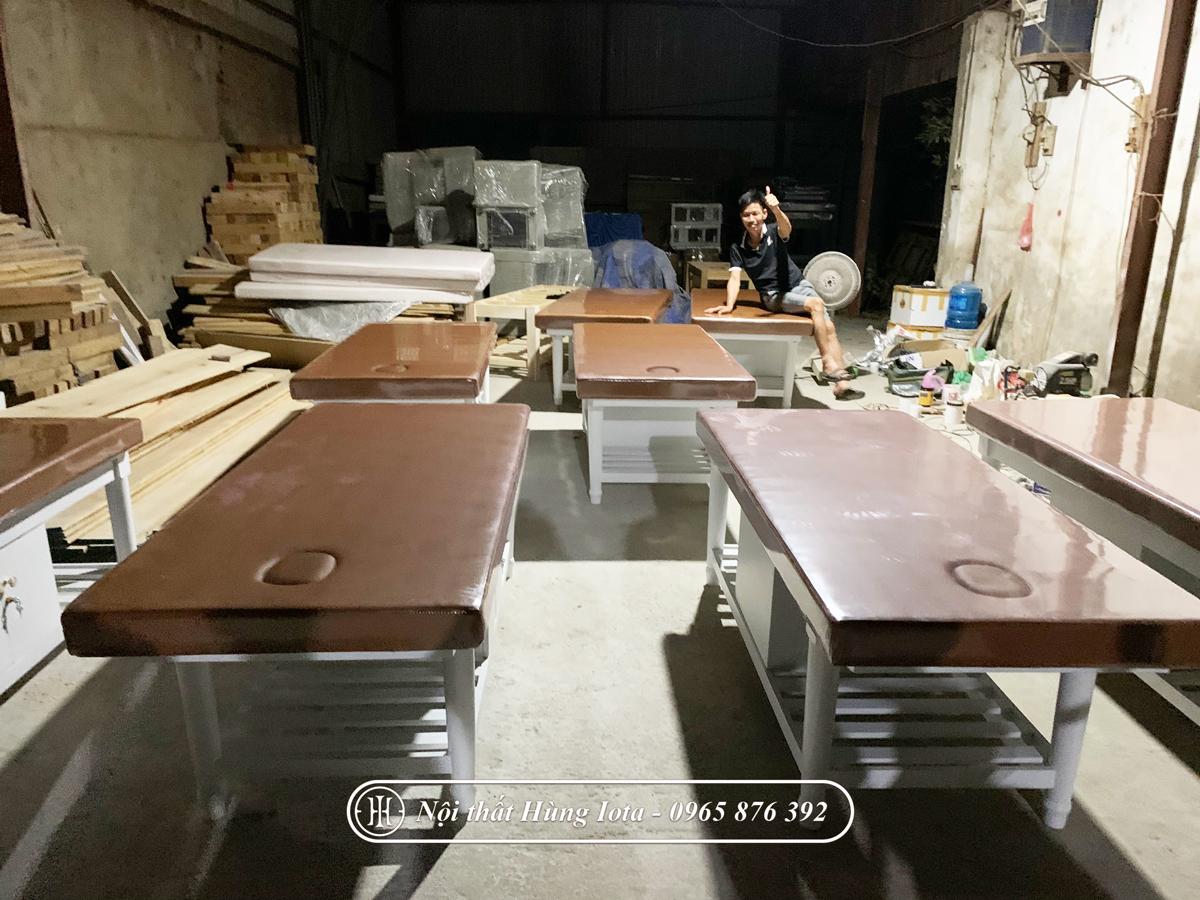 Xưởng sản xuất giường spa ở Hà Nội, Giường massage body ở Hà Nội