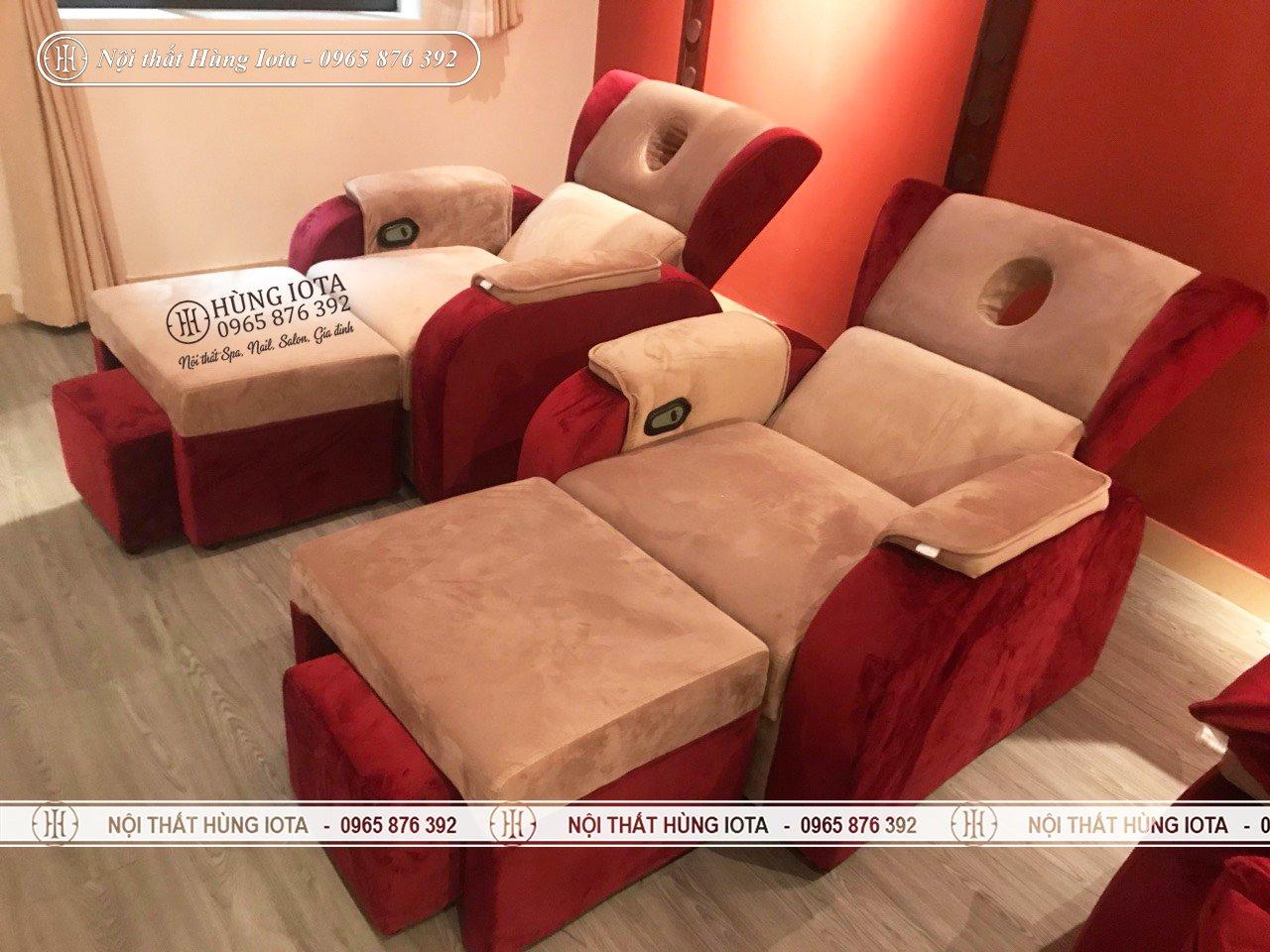 Ghế massage chân giá rẻ bọc nỉ