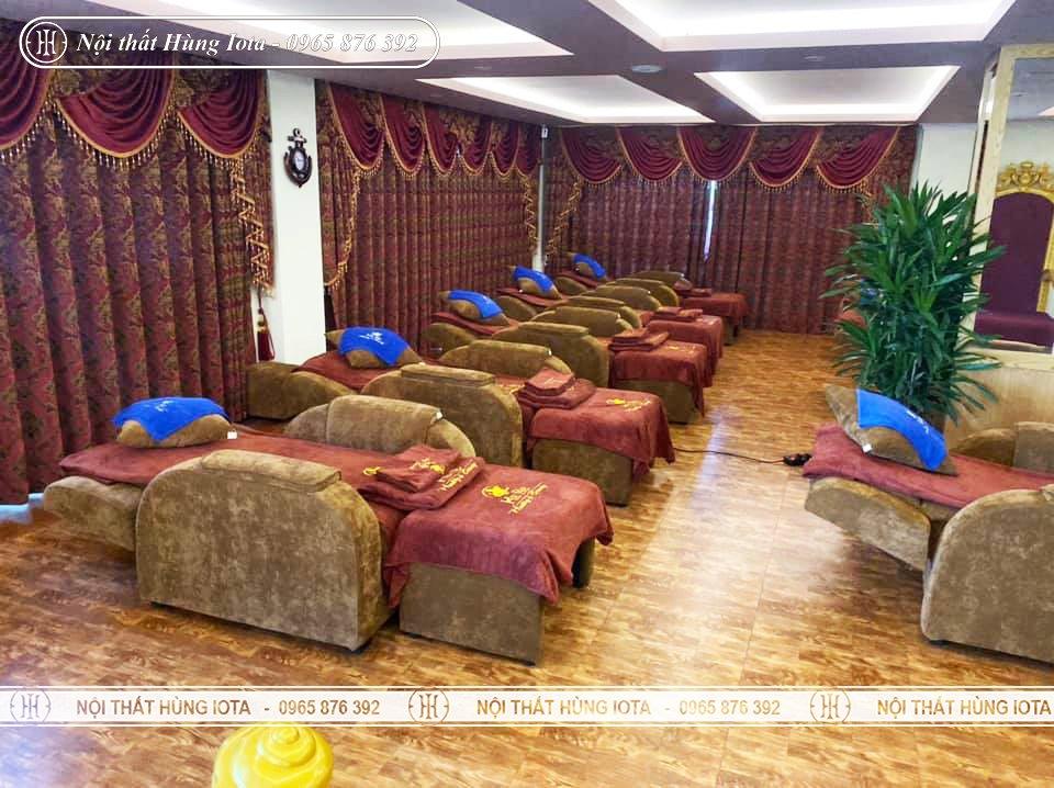 Mẫu ghế foot-massage nâng điện màu nâu