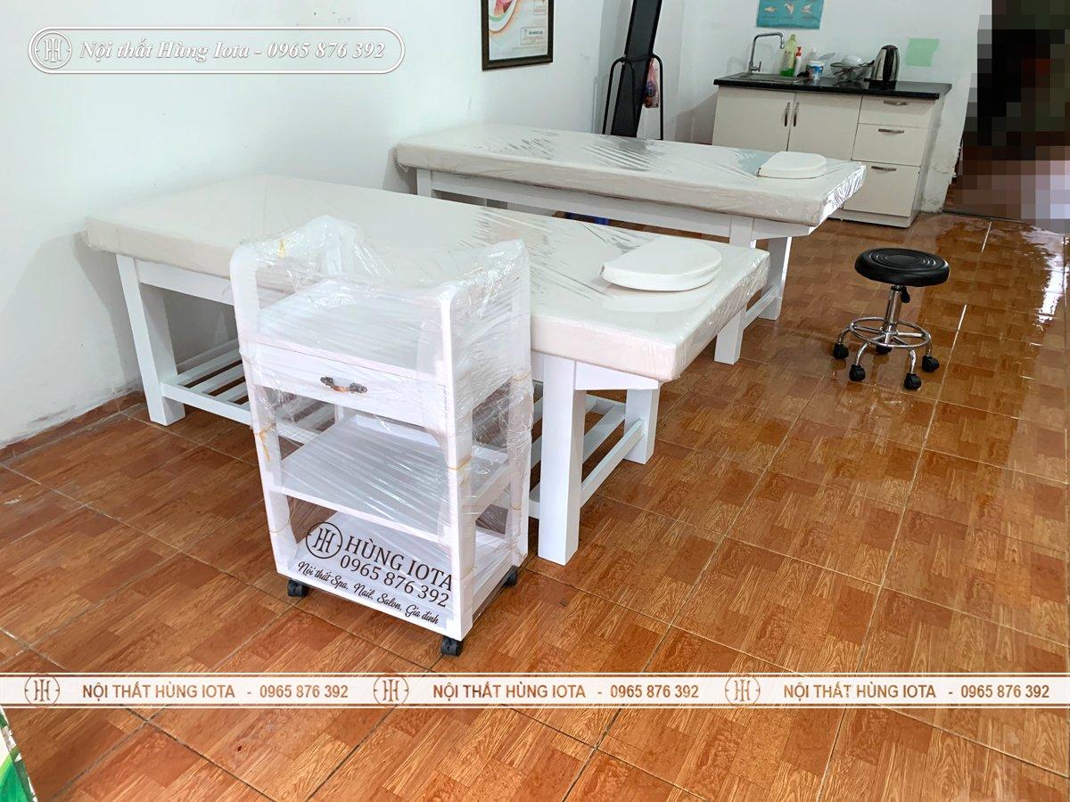 Thiết kế giường spa tại Hà Đông