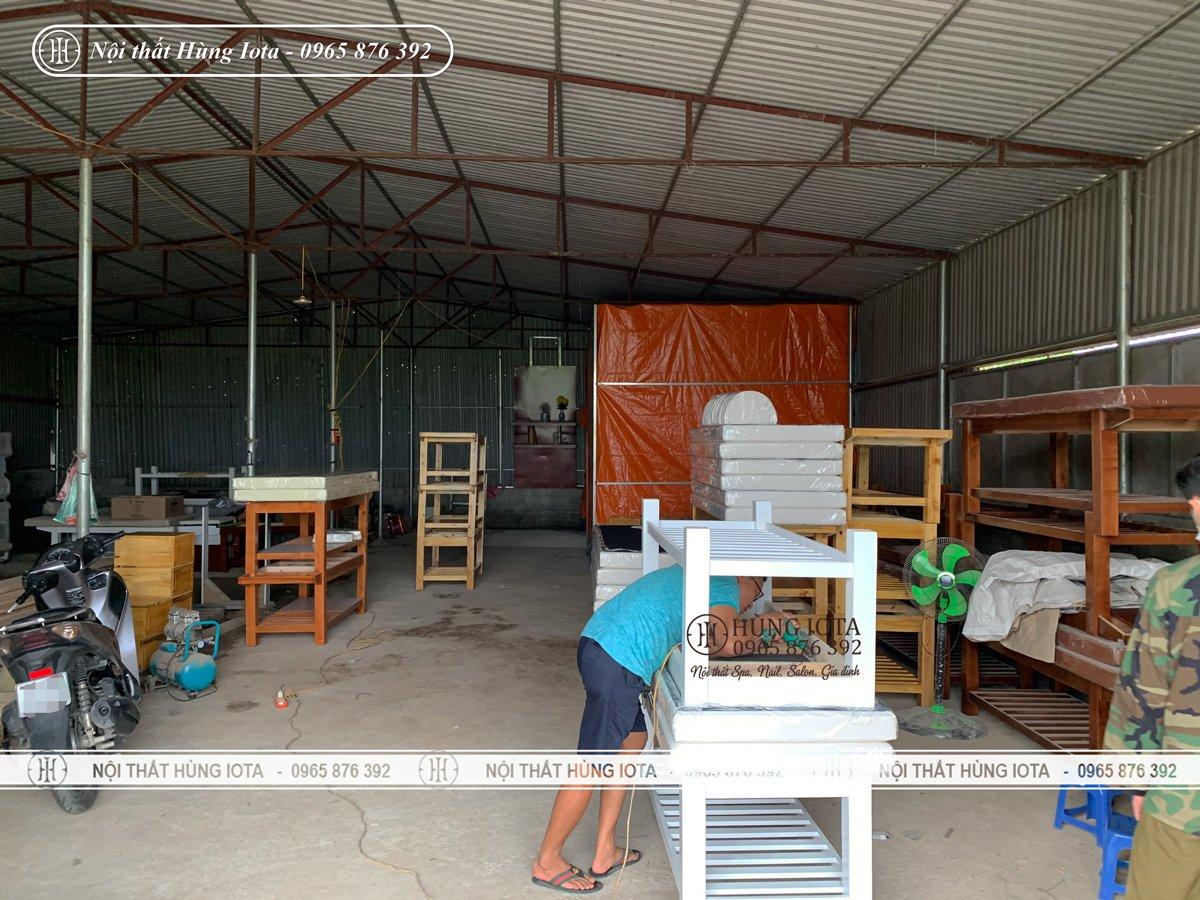 Xưởng sản xuất giường spa tại Hà Đông