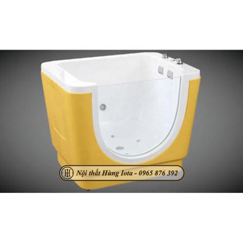 Bồn tắm massage thủy lực cho bé màu vàng bắt mắt HIT-XD19