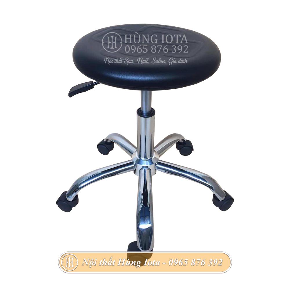 Ghế inox có bánh xe mặt dấu cộng nâng hạ được