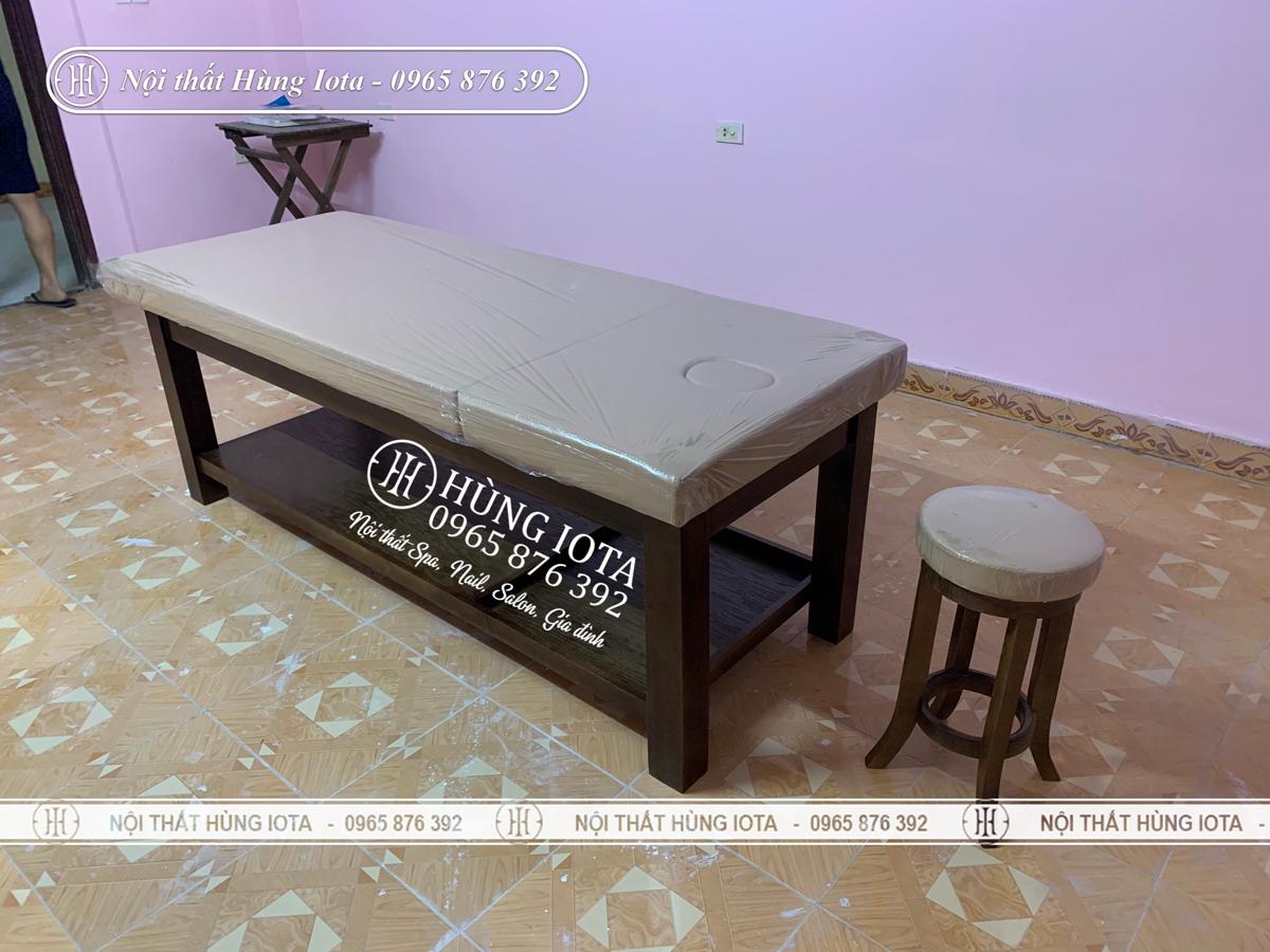 Giường massage tại Hưng Yên giá rẻ đẹp, khung gỗ sồi