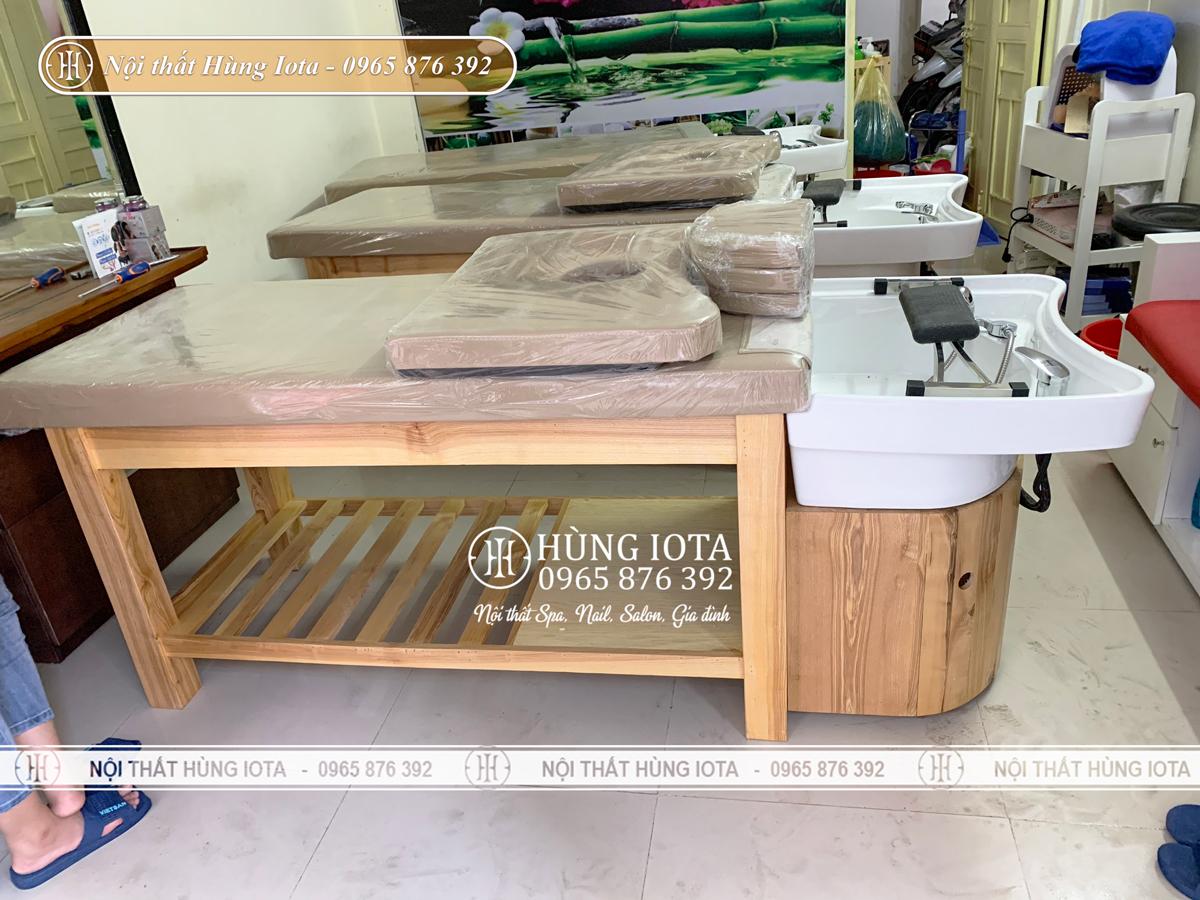 Giường spa 2 in 1 bồn sứ tại Thanh Xuân đẹp, bồn sứ