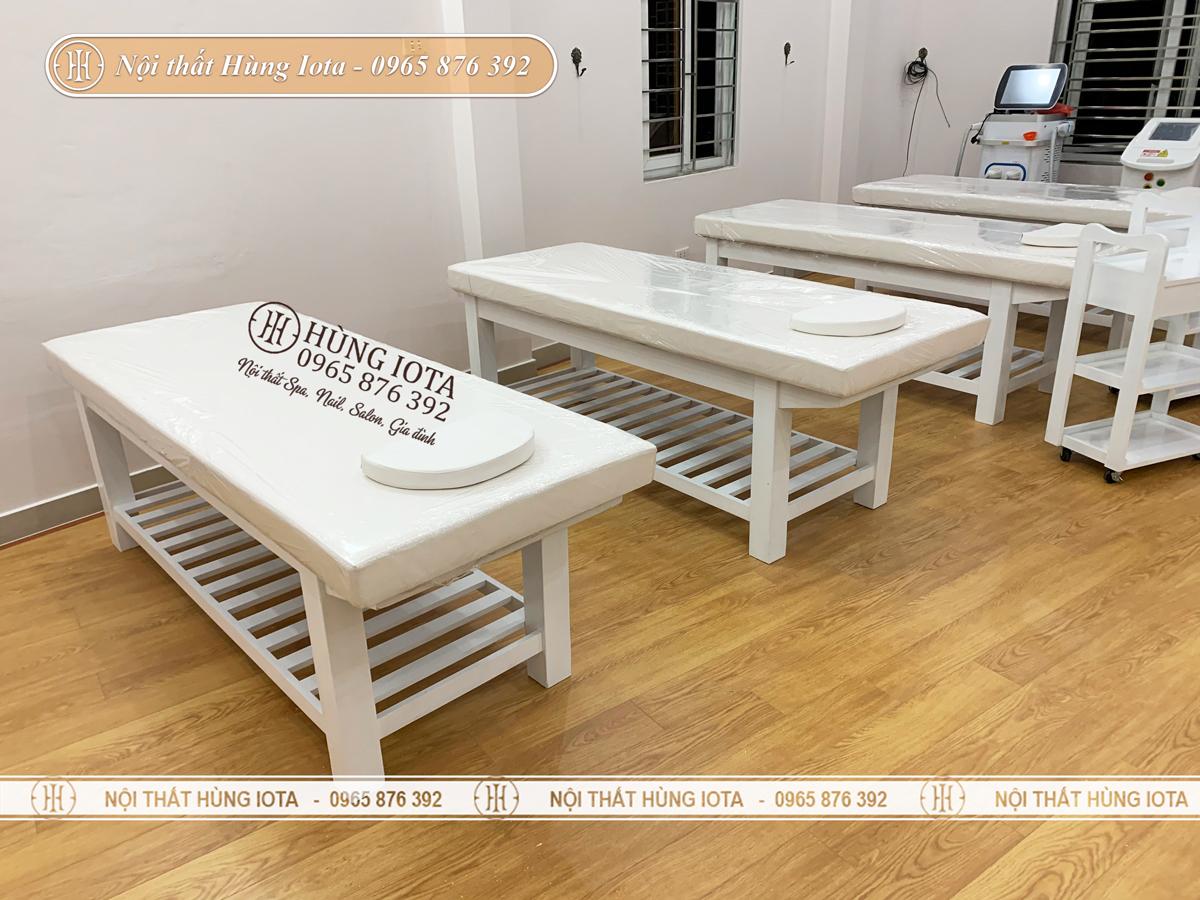 Giường spa chăm sóc da màu trắng đẹp giá rẻ ở Uông Bí, Quảng Ninh