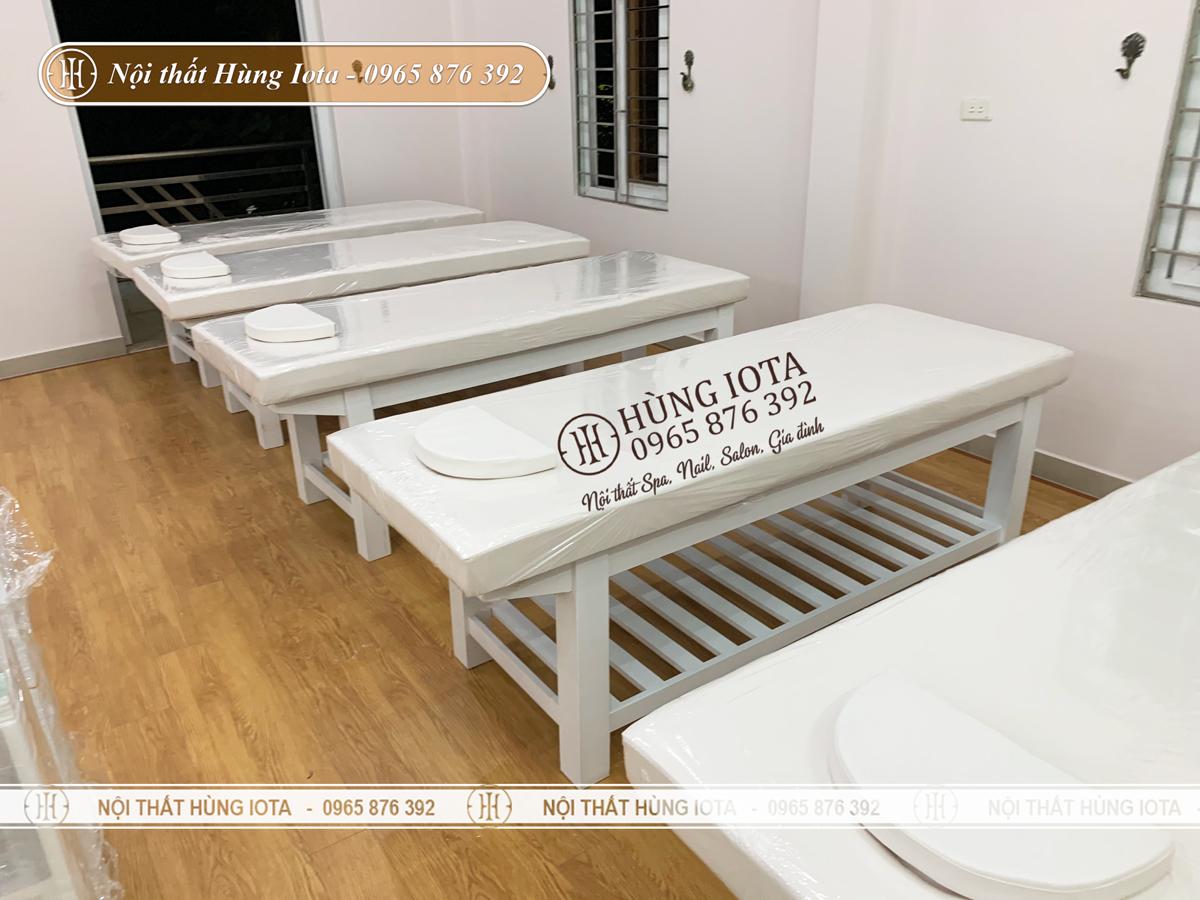 Giường spa ở Quảng Ninh màu trắng đẹp giá rẻ