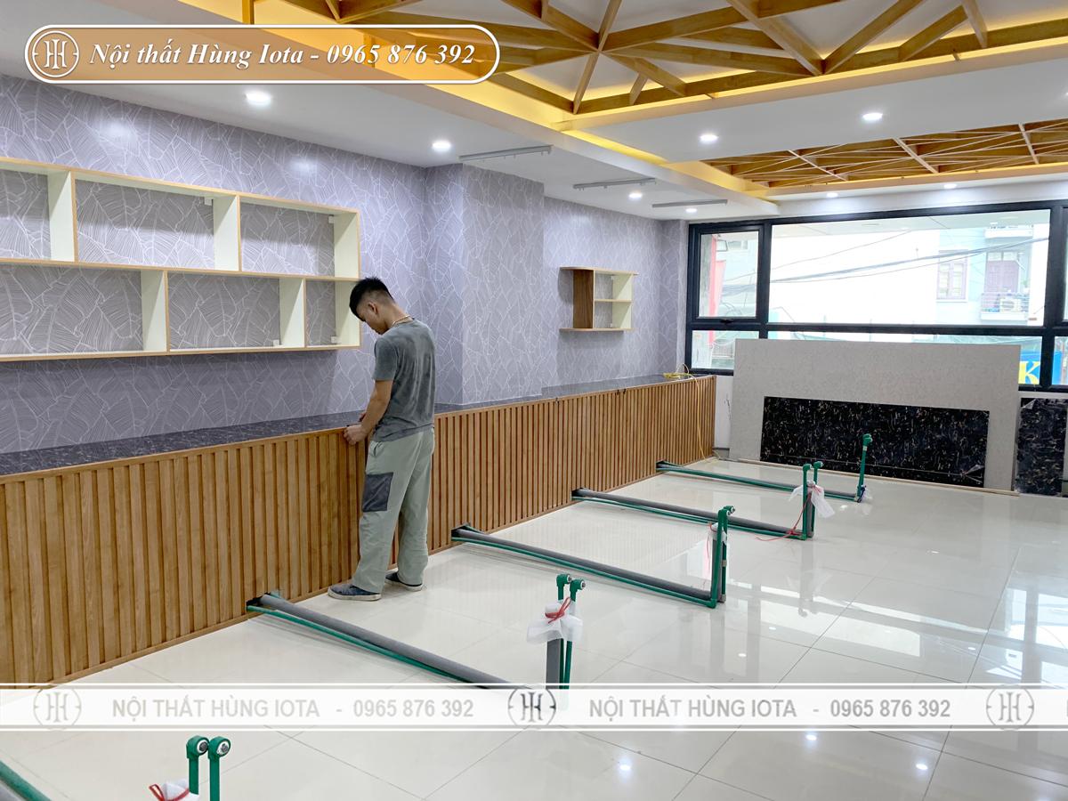 Lắp đặt đưỡng ống nước cho giường gội spa ở Hà Nội