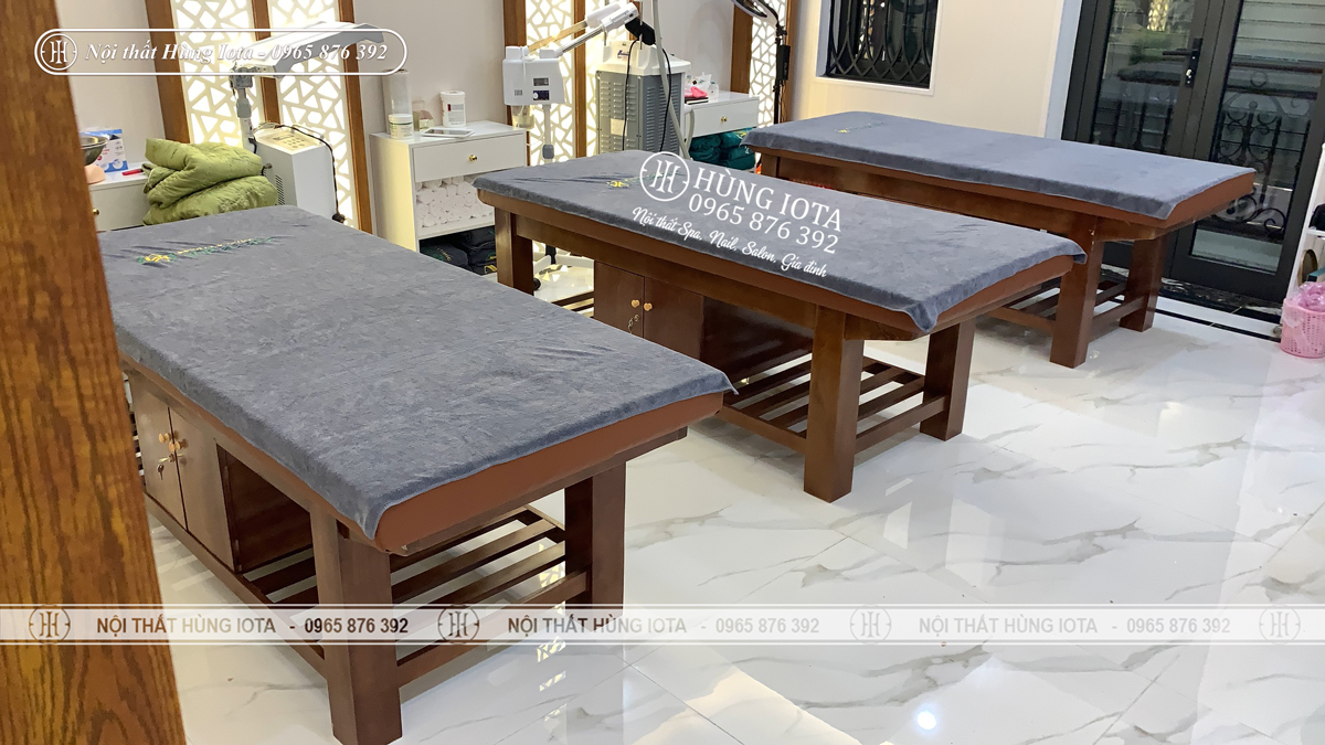 Mẫu giường spa cao cấp cho thẩm mỹ viện