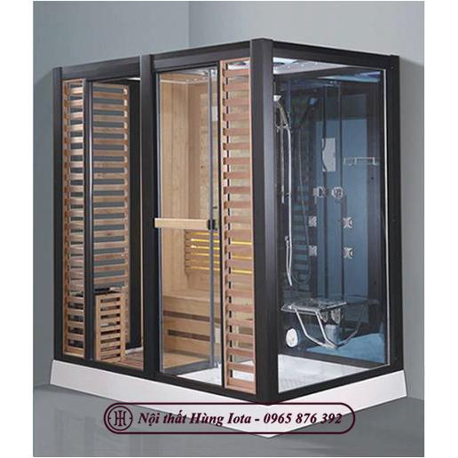 Phòng xông hơi khô kết hợp ướt hiện đại sang trọng HIP-D8876(L/R)