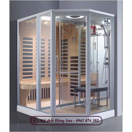 Phòng xông hơi khô kết hợp ướt hình dạng bán lục giác độc đáo HIP-9001(L/R)