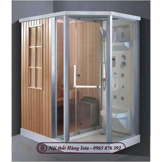 Phòng xông hơi khô kết hợp ướt thiết kế hình bán lục giác ấn tượng HIP-9006(L/R)