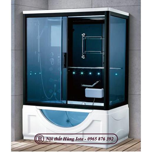Phòng xông hơi ướt spa hình chữ nhật kính khuyết HI-7032A