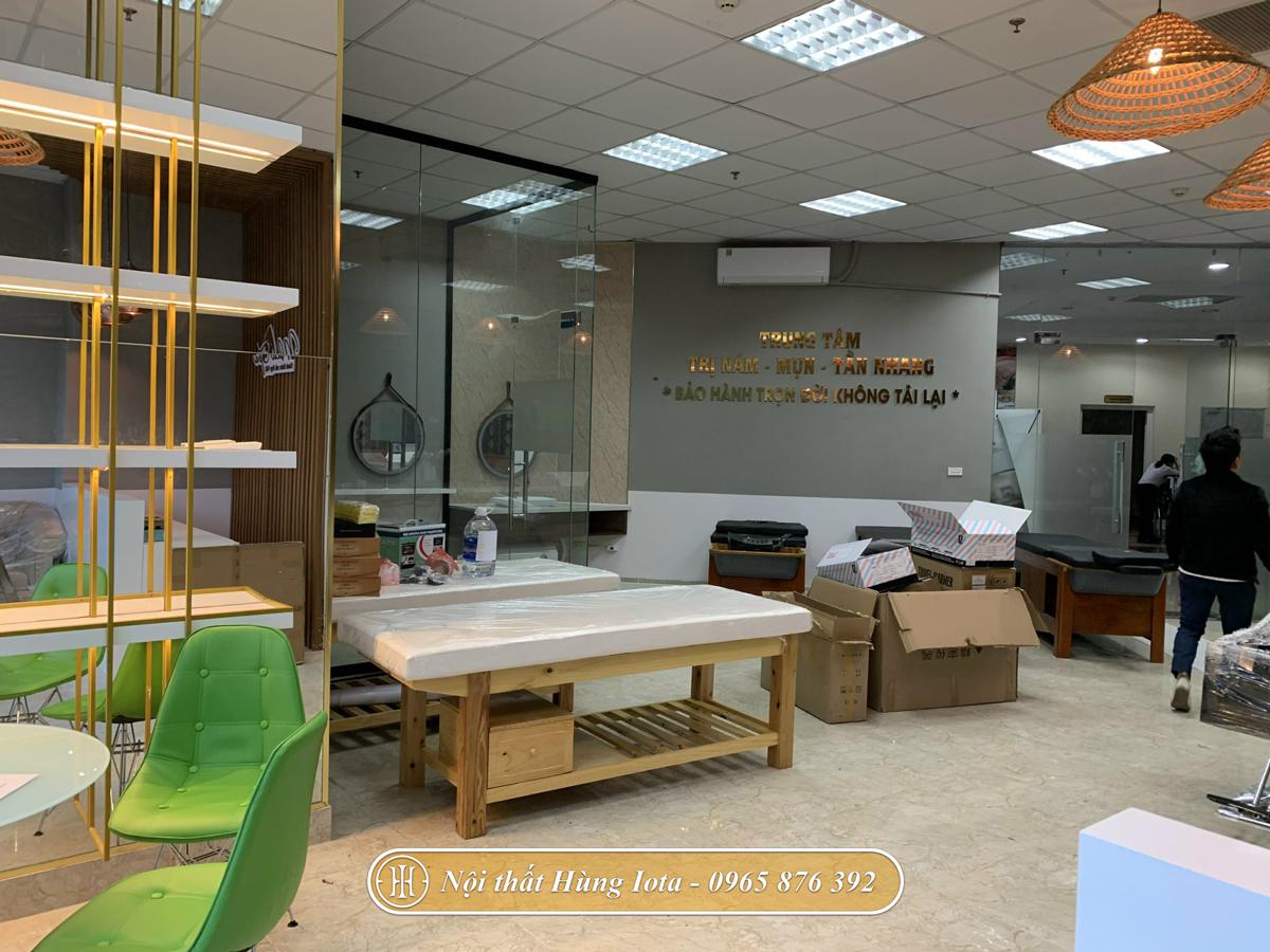 Setup nội thất, máy móc spa cho Nola spa ở Cầu Giấy