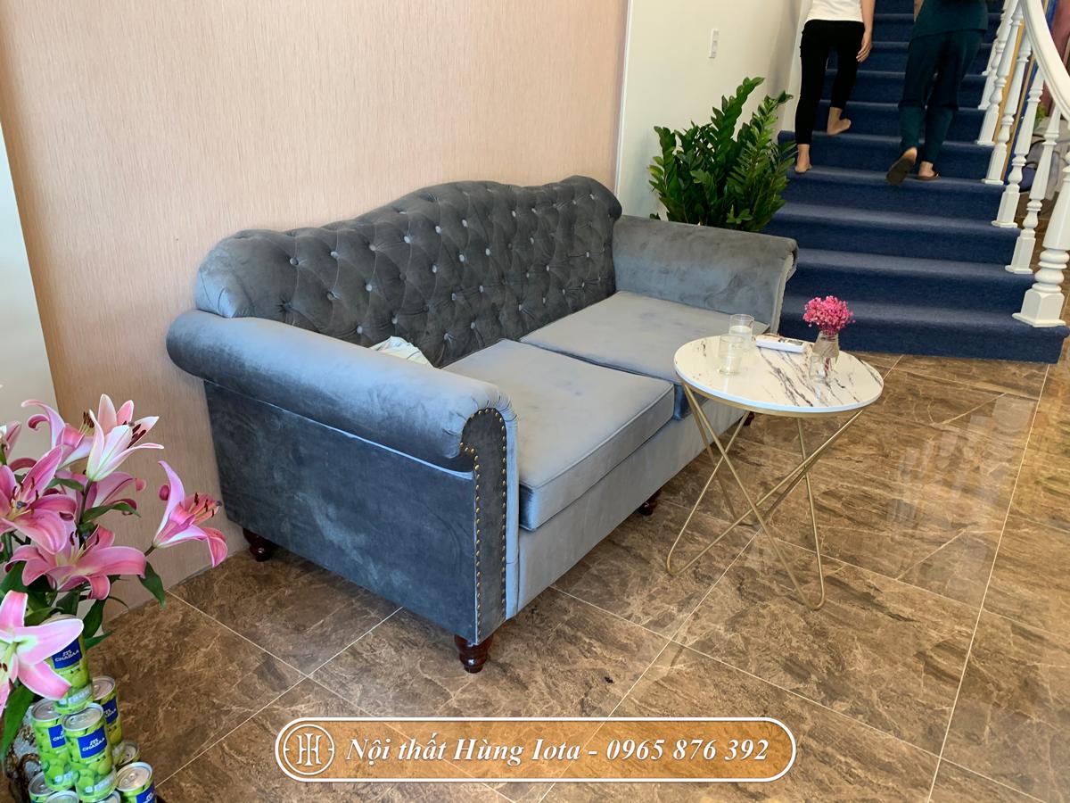 Sofa spa tân cổ điển màu xanh cho TMV Belleza