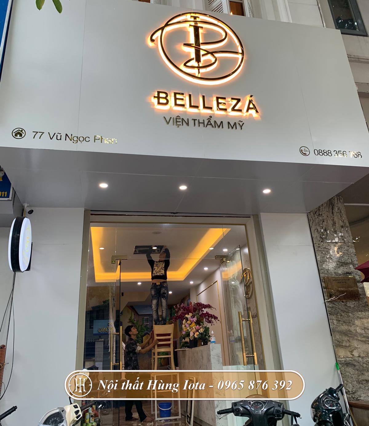 Thiết kế lắp đặt nội thất spa Belleza ở Vũ Ngọc Phan