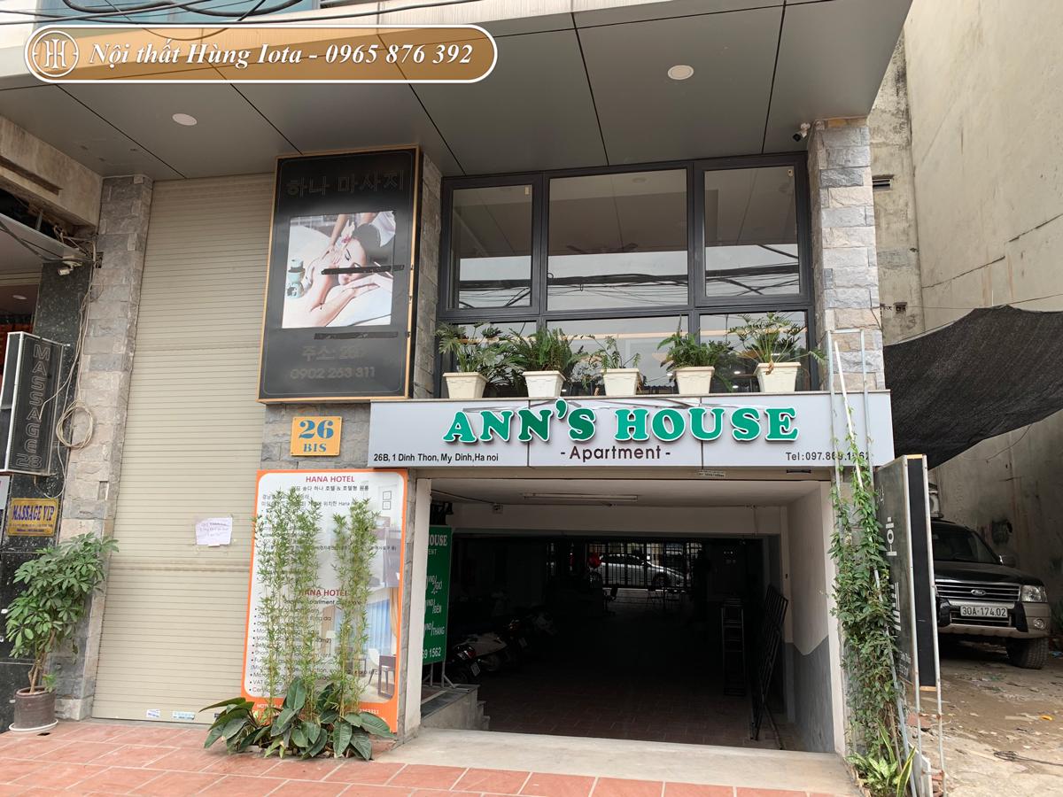 Thiết kế nội thất quán cafe Ann's House ở Mỹ Đình