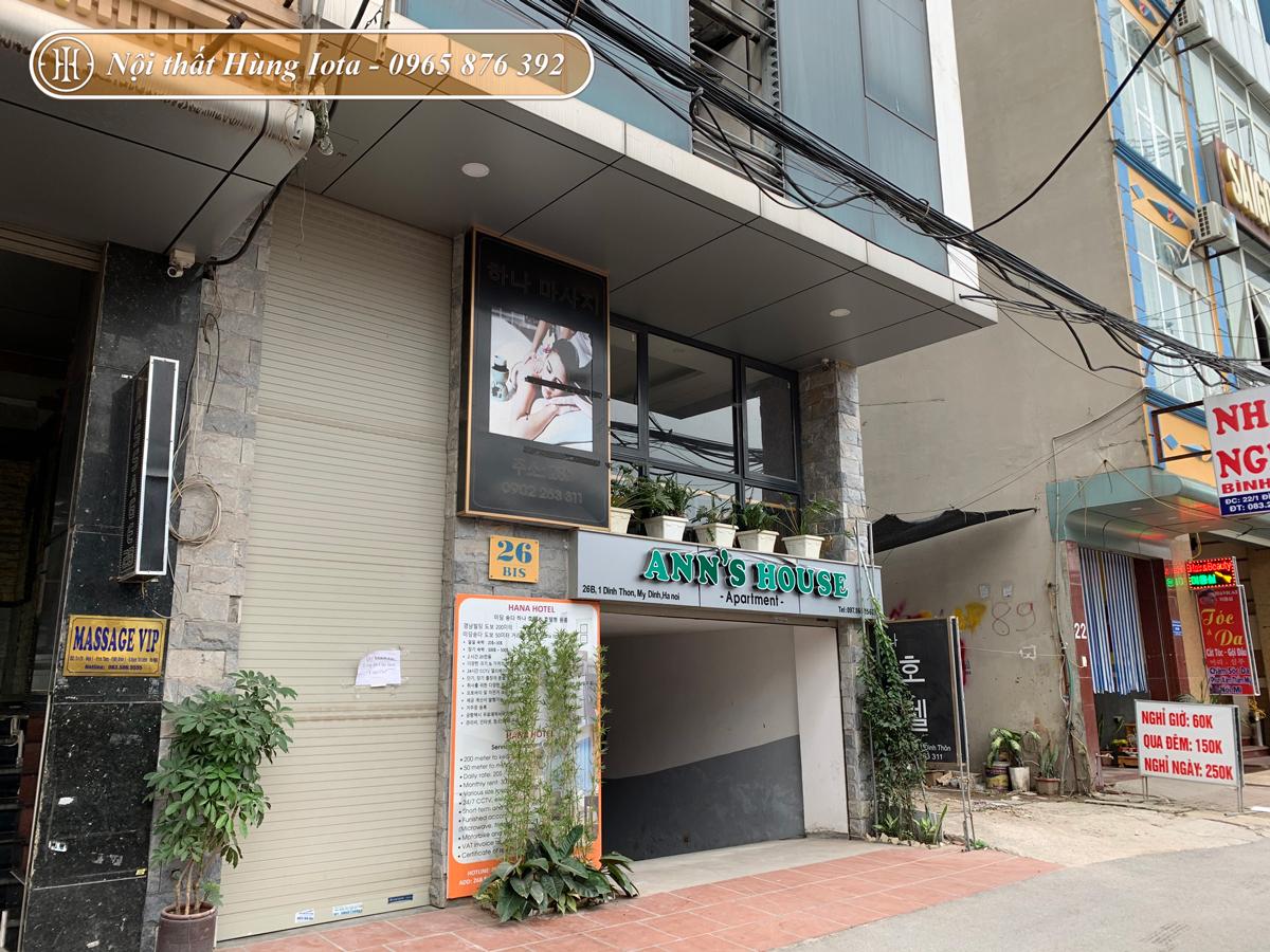 Thiết kế nội thất spa cho Ann's House ở Mỹ Đình, Hà Nội