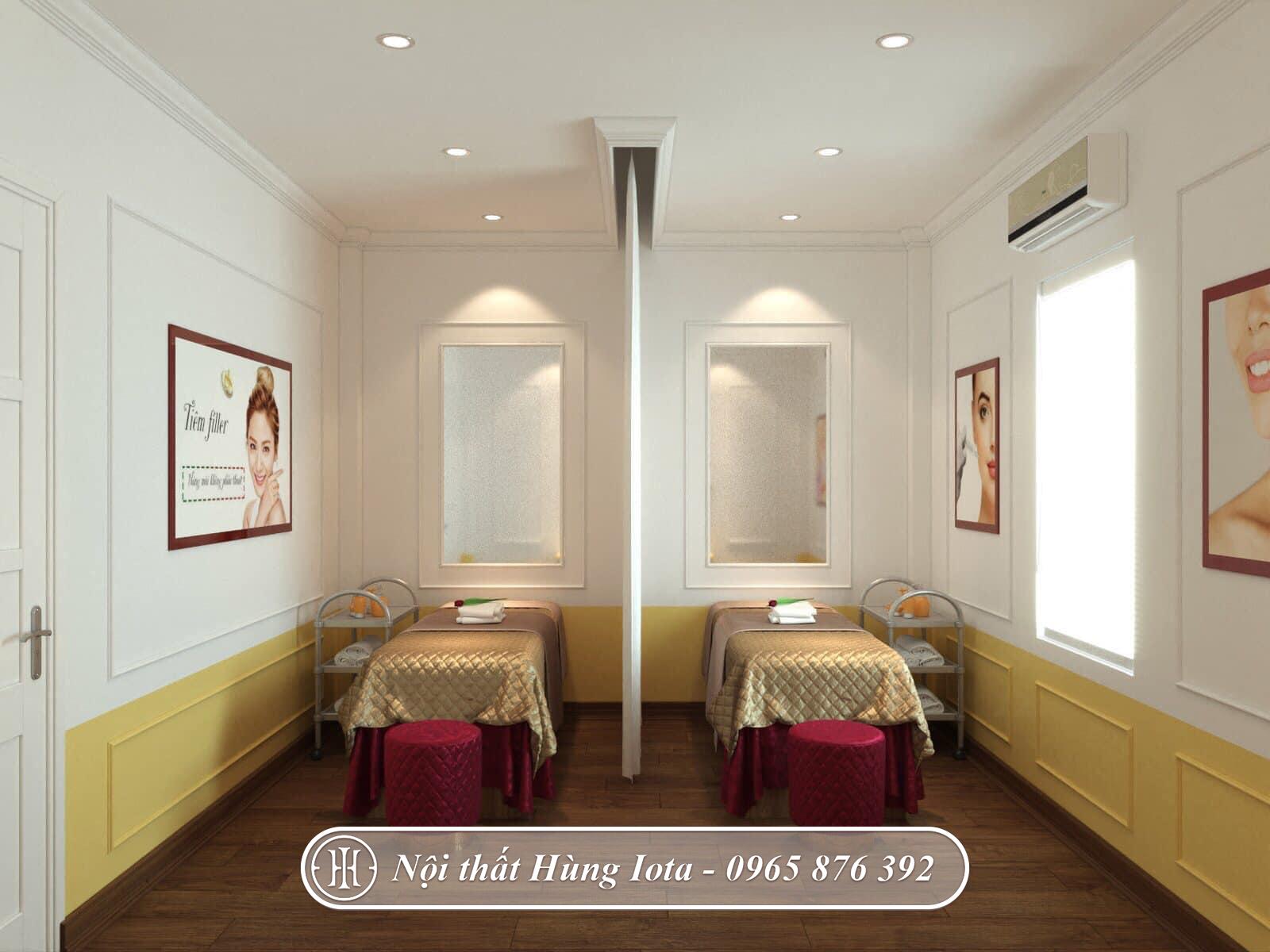 Thiết kế phòng massage body nhỏ đẹp spa Mỹ Linh Beauty Spa & Academy