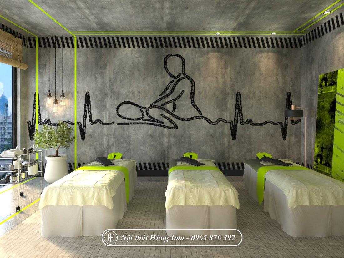 Thiết kế phòng massage đơn giản phong cách thiên nhiên