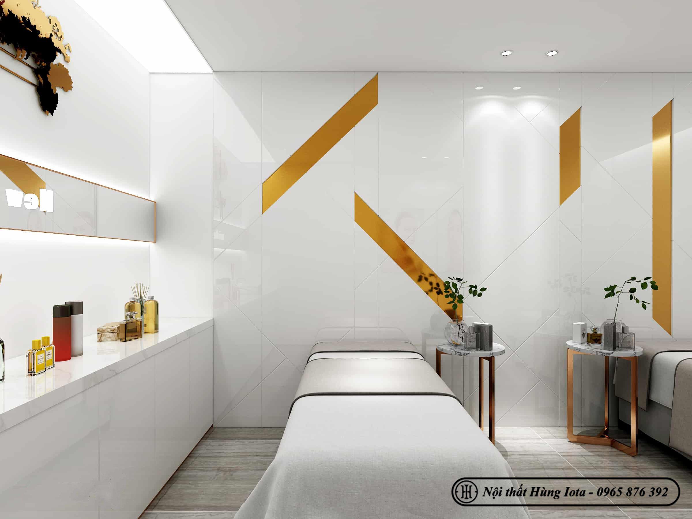 Thiết kế phòng spa nhỏ làm dịch vụ đẹp